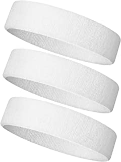 NEXTOUR Headband/Wristband for Men and Woman, 3PCS/ 6PCS Sweatband& Sport Headband Perfect for Working Out, Running, Yoga, Crossfit- High Stretch& Moisture Wicking