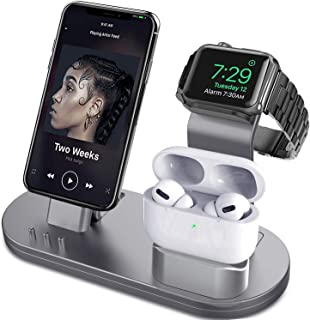 OLEBR 3 in 1 Charging Stand Compatible with iWatch Series 5/4/3/2/1, AirPods and iPhone 11/Xs/X Max/XR/X/8/8Plus/7/7 Plus ...