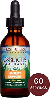 Host Defense, Cordyceps Extract, Supports Energy and Stamina, Daily Mushroom Supplement, Vegan, Organic, Gluten Free, 2 fl oz (60 Servings)