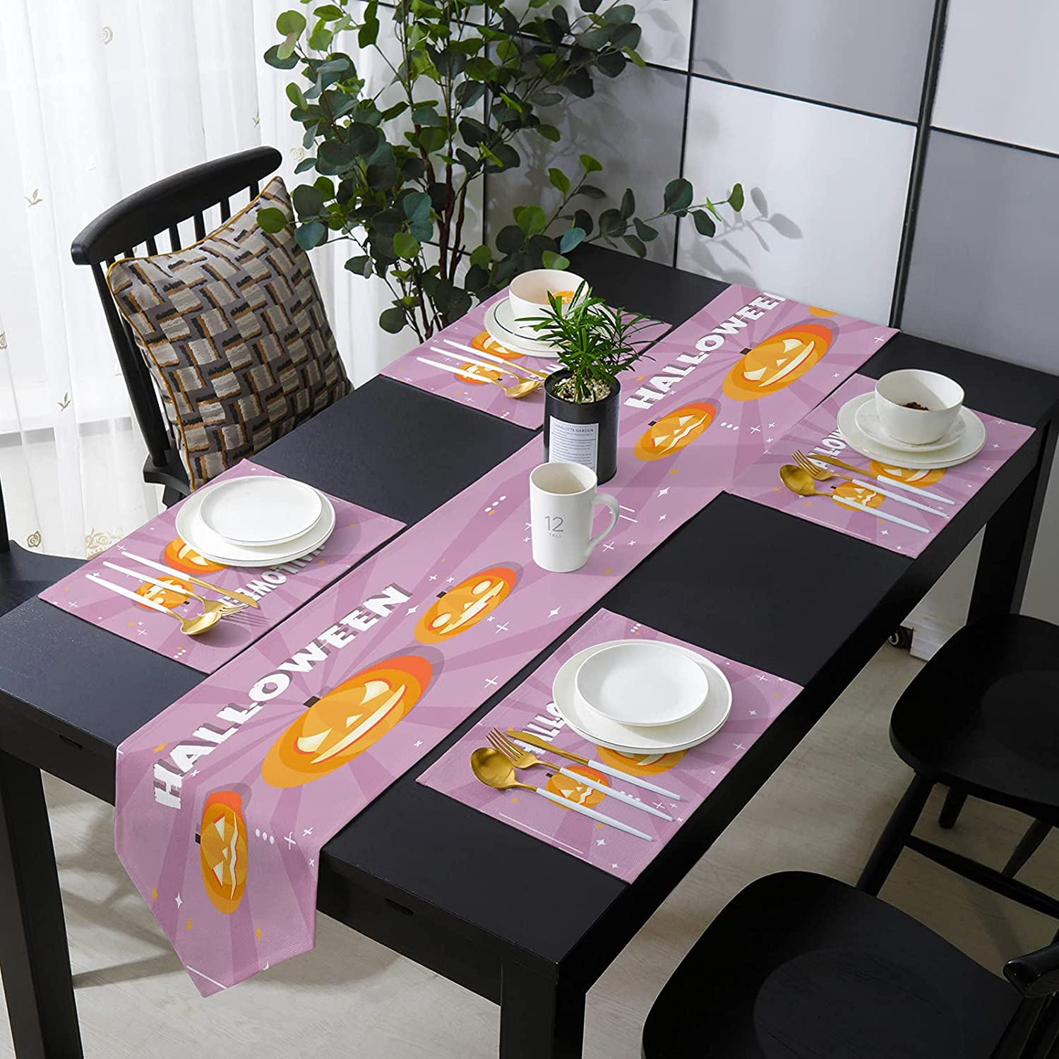 Aomike Placemats and Table Runner 13 x for Max 79% OFF Ta inch Ranking TOP14 Set Dining 90