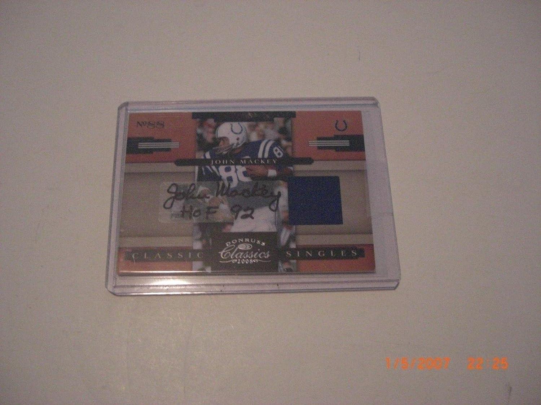 Ranking TOP3 John Mackey Colts 2008 Donruss Classics Game Jersey 06 Used Auto Max 90% OFF