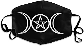 Comfortable Adjustable Triple Moon Pentacle Pagan Facial Ma.sk Decorations For Women And Men