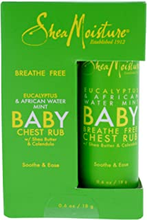 Shea Moisture Eucalyptus & African Water Mint Baby Chest Rub Ointment for Unisex, 0.6 Ounce