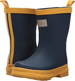Hatley Kids - Navy and Yellow Rain Boots (Toddler/Little Kid)