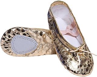 Zapatos de Ballet de Cuero Zapatillas de Ballet de Danza Baile para Niños