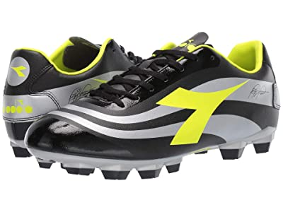 Diadora RB10 Mars R LPU (Black/Yellow Fluo/Silver) Men