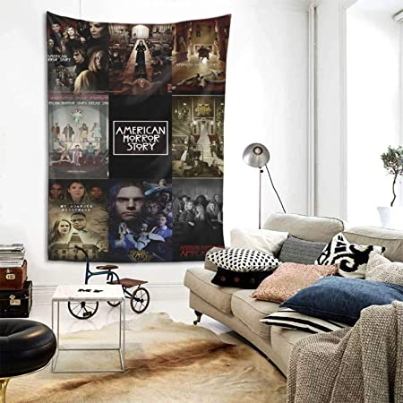 Amazon Com Mr Wessly American Horror Story Bedroom Decoration Wall Hanging Tapestry Tapestry 60 X51inch Home Kitchen