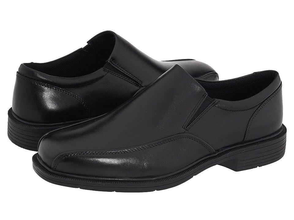 Nunn Bush Jefferson Bicycle Toe Comfort Slip-On (Black Leather) Men