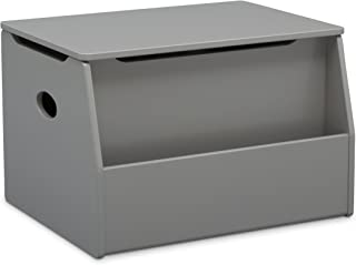 gray wood toy chest