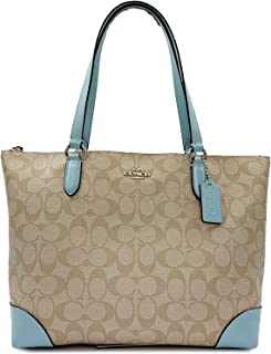 Coach Womens Outline Signature Zip Tote