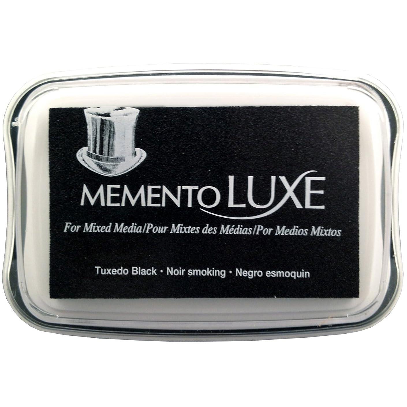 Tsukineko Memento Luxe Mixed Media Inkpad, Tuxedo Black