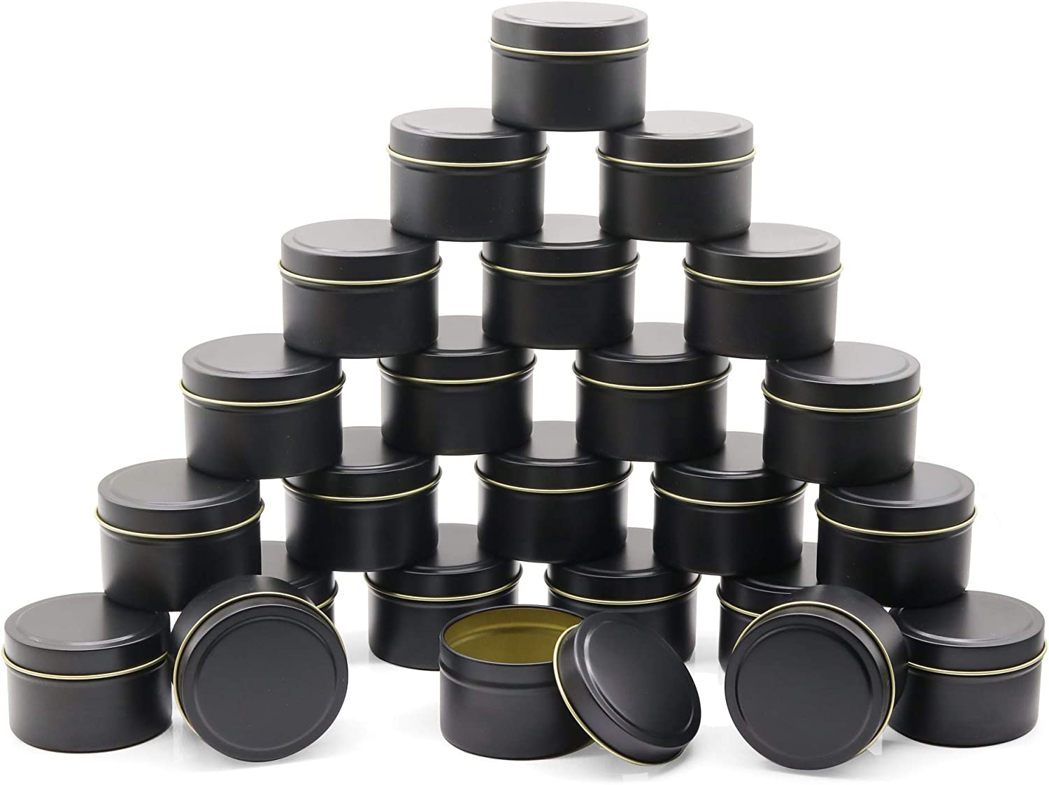 JulWhisper In stock 48 Piece Candle Tin Can 24 4oz + 8oz Cheap sale