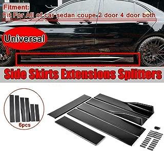 Universal Lower Side Skirts Body Kit Rocker Panel Extension Polypropylene, Black