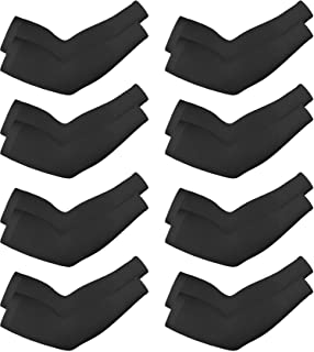 8 Pairs Unisex Arm Sleeves UV Sun Protection Cooling Sleeves for Driving Jogging Golfing Riding Outdoor Activities