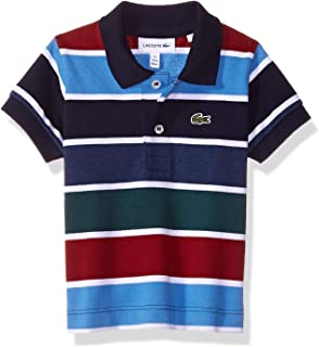 Lacoste Boy Short Sleeve Multico Stripes Pique Polo