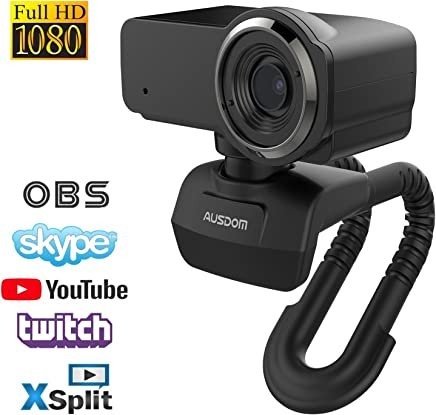 AUSDOM Webcam Streaming HD 1080P Videochiamate e Registrazione PRO Webcam PC USB Computer Camera con Microfono Streaming Cam per PC/Mac/Desktop Compatibile con Youtube o Twitch - Trova i prezzi più bassi