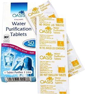 comprar comparacion HIGHLANDER Wasserentkeimer Aqua Clear Tabletten zur Wasseraufbereitung 50 Stück - Purificador de Agua, Talla Standard