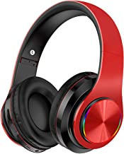 Wireless Headphones Over Ear, Ulecc Bluetooth Headphones with Deep Bass LED Flashing Amazing color Headsets Foldable Stere...