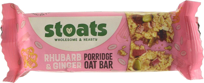 Stoats Rhubarb & Ginger Porridge Oat Bars, 20g Pack of 20