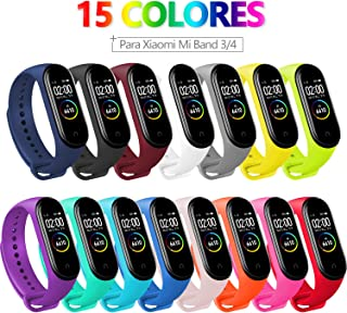 comprar comparacion BANGTING 15 PCS Correa Compatible con Pulseras Xiaomi Mi Band 3/4, Correas para Fundas Mi Fit Band 4 My Band 3 Inteligente...