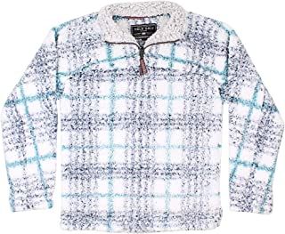 True Grit Frosty Tipped Taos Pile 1/4 Zip Pullover in Navy Final Sale