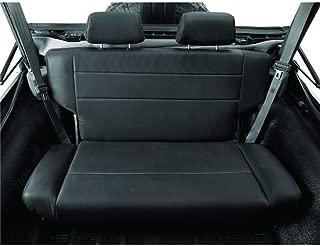 Bestop 39440-01 TrailMax II Fold and Tumble Black Crush All-Vinyl Rear Bench Seat for 1955-1995 CJ5, CJ7 and Wrangler YJ