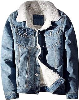 Lentta Men's Vintage Relax Fit Thick Fleece Sherpa Lined Denim Jean Jacket Coat