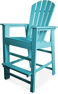 POLYWOOD SBD30AR South Beach Bar Chair, Aruba