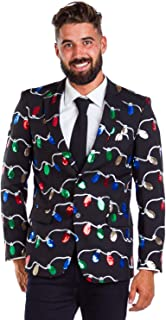 Men's Sequin String of Lights Christmas Suit Separates -...
