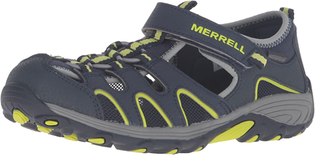 Merrell Boys' Hydro H2O Hiker Sport Sandal, bleu, 5 Wide US Big Kid