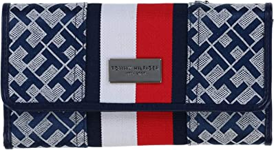Tommy Hilfiger Womans Wallet Navy/Red/White Checkbook