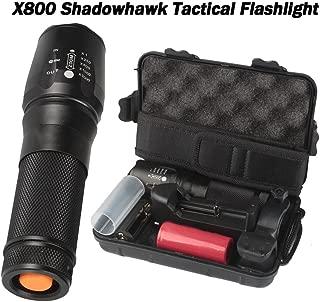 Sixpi Super Bright 6000lm Genuine SHADOWHAWK X800 Tactical Flashlight LED Zoom Military Torch G700