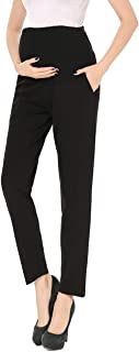 Maternity Pants Comfortable Stretch Over-Bump Women...