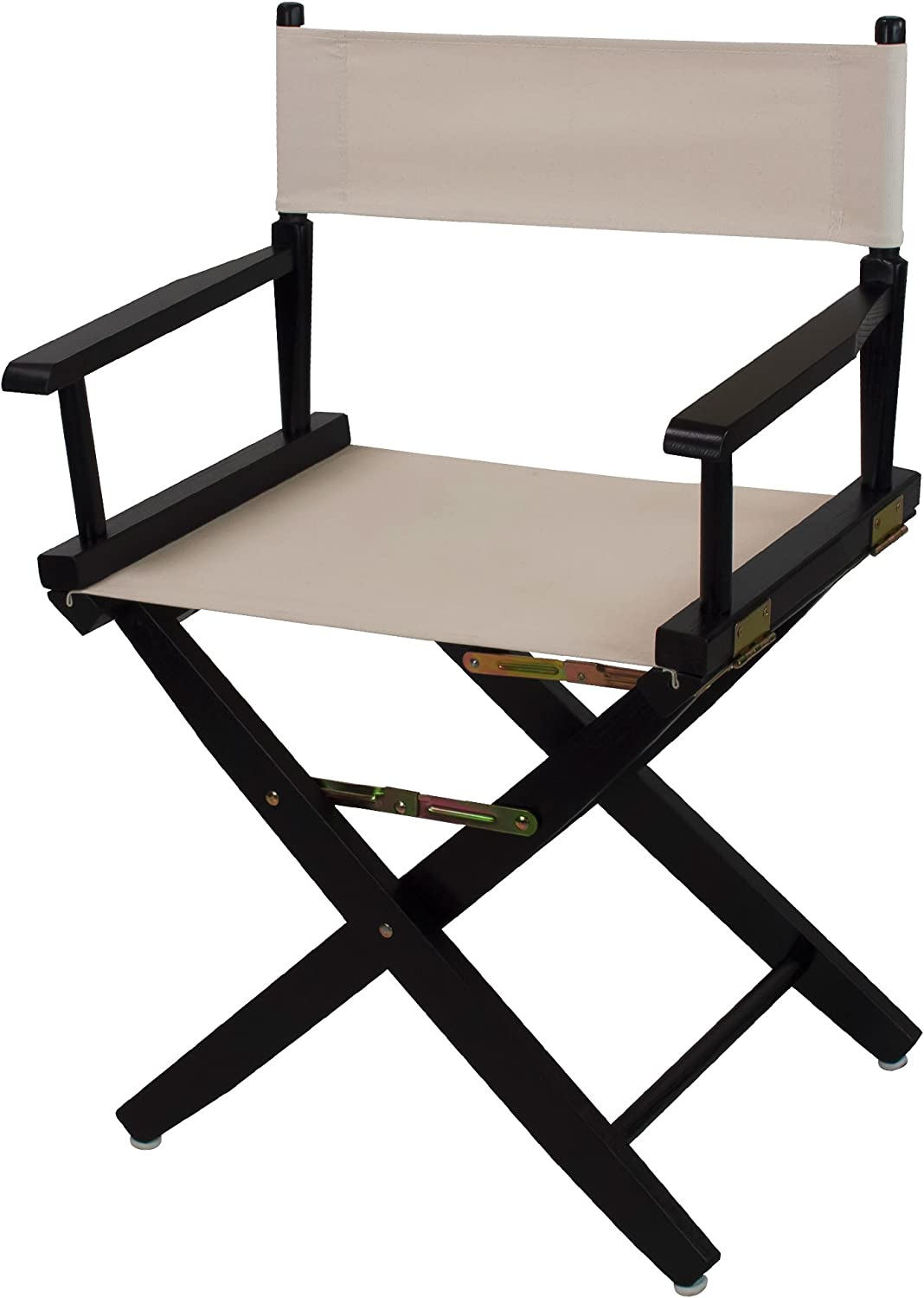 American Trails Extra-Wide Premium 18  Director's Chair Black Frame with Natural Canvas