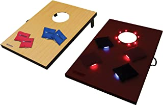 Triumph LED Lighted Cornhole Set - Includes Two Lighted Cornhole Boards and Eight Glowing Cornhole Bags