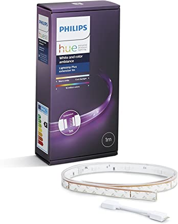 Philips Hue LightStrip Plus Dimmable LED Smart Light - One Metre Extension (Compatible with Amazon Alexa, Apple HomeKit, and Google Assistant)