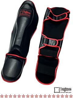 TOUGHNESS THICK PAD SHIN GUARD BK(SYNTHETIC LEATHER)