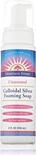 Heritage Store Colloidal Silver Foaming Soap, Unscented, 8 Ounce