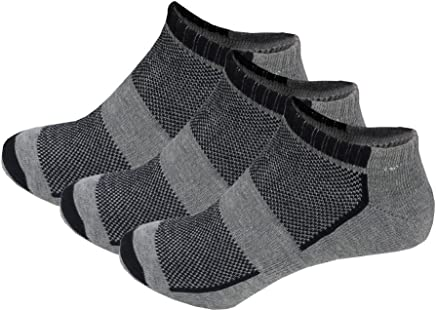 f243dff64c4c Picopi Men's 3 Pack Cotton Cushioned Sports Socks with Arch Support