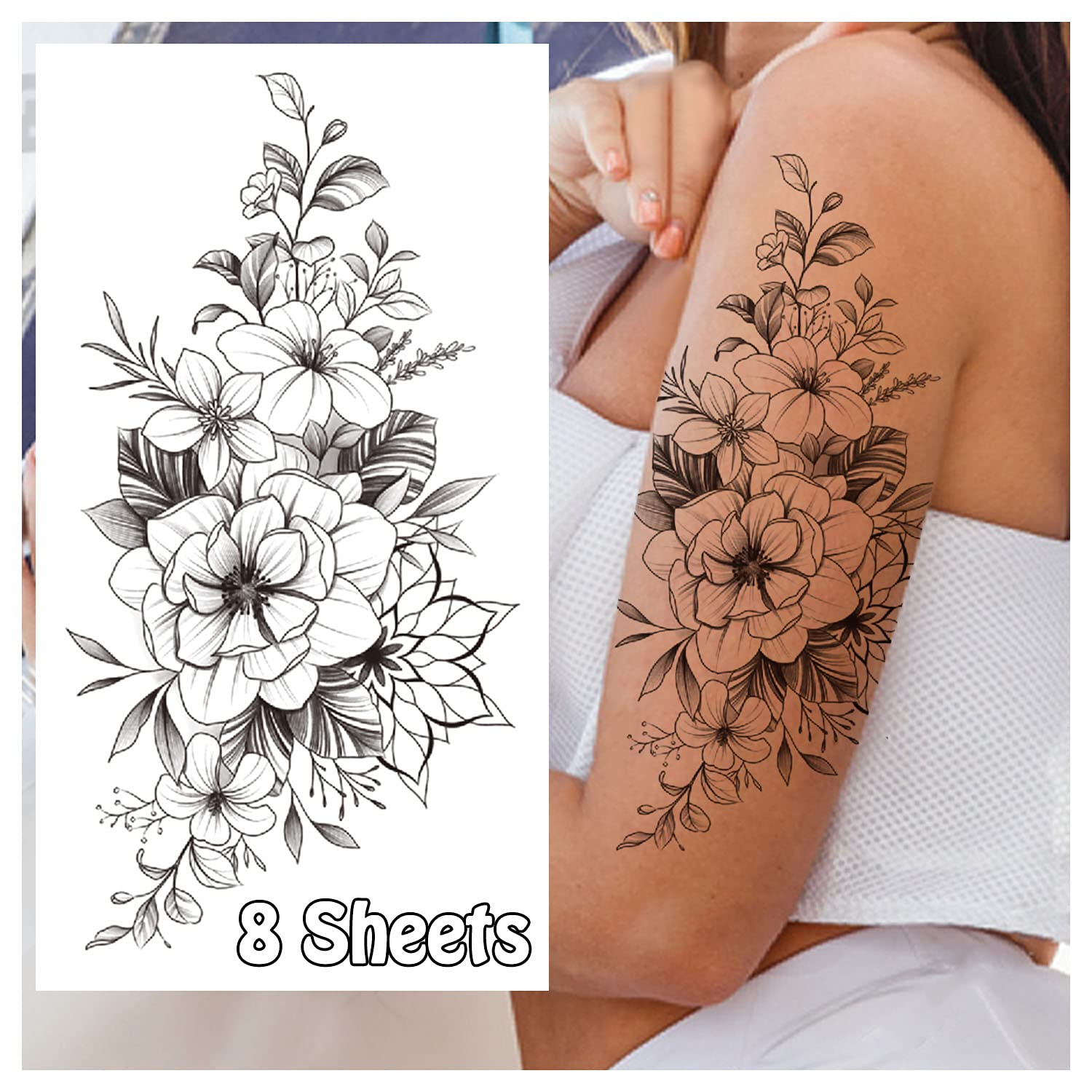 Cerlaza Temporary Tattoos for Women Permanent New mail order Sle Semi Selling and selling Arm Half