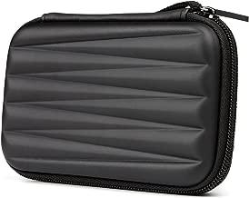 """Estuche Salcar con Superficie Exterior rígida para Discos Duros HDD portátiles de 2.5"""" Cubierta de la Bolsa para 2.5 Pulgadas Disco Duro Externo Fundas (Negro)"""