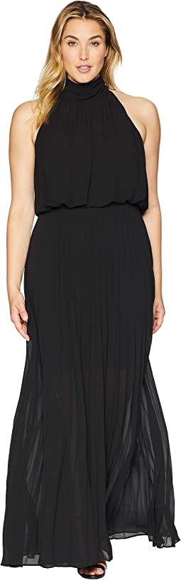 Plus Size Alexandra High-Neck Accordion Dress