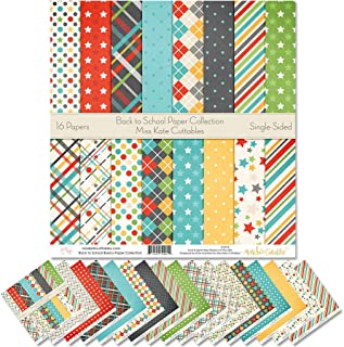 "Sponsored Ad - Pattern Paper Pack - Back to School - Scrapbook Premium SpecialtyPaper Single-Sided 12""x12"" Collection Incl..."