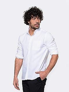 camisa manga longa oxford