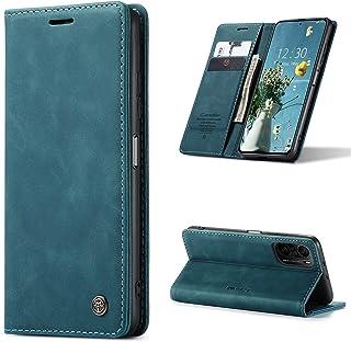Doao Xiaomi Poco F3 Case Genuine Leather Wallet Case Case Case Holder غطاء فليب مغناطيسي غطاء Xiaomi Poco F3 - أخضر داكن
