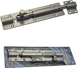 Cerrojo de puerta de acero inoxidable ideal para uso en interiores y exteriores, cerradura de pestillo estable para puertas y portones - 175 x 40 mm