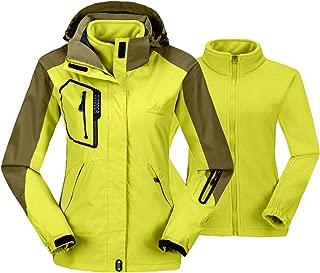 Women's 3-in-1 Winter Ski Jacket Outdoor Waterproof Snowboarding Coats with Inner Warm Fleece Coat