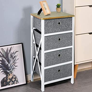 Multi-Layer Bedroom Chest of Drawers Locker Children's Unit Wardrobe Non-Woven Fabric for Living Room Corridor Bathroom (