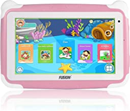 """Fusion5 7"""" KD095 Kids Tablet PC - 64-bit Quad-core, Android 8.1 Oreo, WiFi, Parental Controls, Kids Learning Tools, 32GB Storage, Dual Cameras, Kids apps, Tablet PC for Kids (Pink)"""