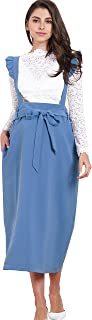 Sweet Mommy Maternity Pregnancy Midi Skirt Overall Jumpsuit Suspenders